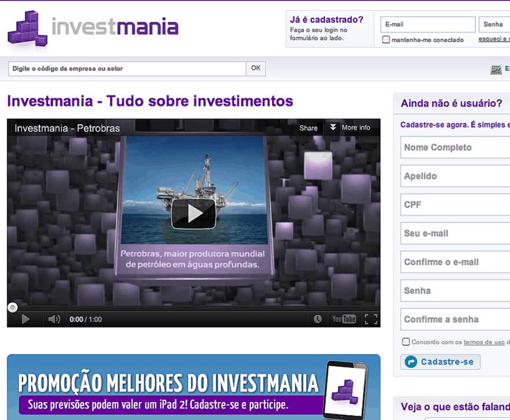 Investmania site
